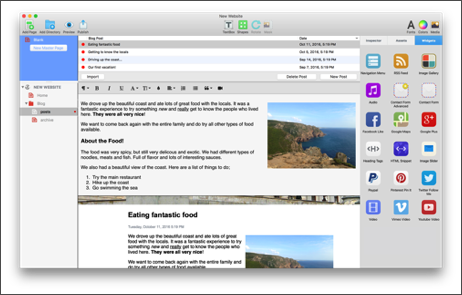 EverWeb Blogging Interface