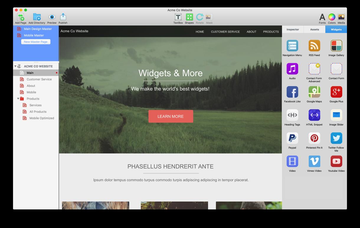 EverWeb Mac 破解版 优秀的网页开发工具-麦氪搜(iMacso.com)